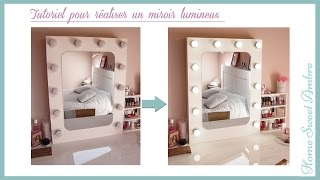 DIY Miroir lumineux maquillage pro - Vanity mirror with lights / Hollywood vanity mirror