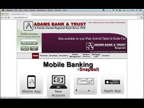 Adams Bank & Trust Online Banking Login Instructions