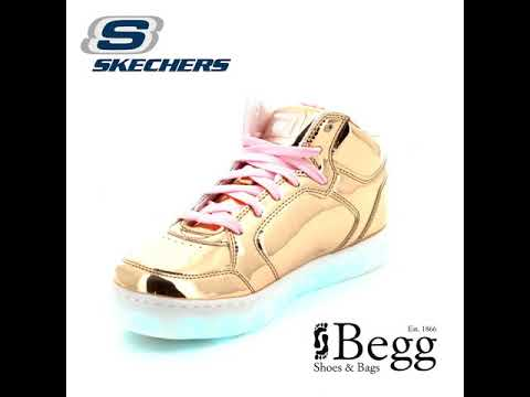 2915376f1a4 Skechers Energy Lights 10771 Rose gold everyday shoes - YouTube