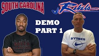 MARCUS LATTIMORE DEMOS SPEED DRILLS AT USC with MICHAEL SROCK BYRNES HIGH PART 1