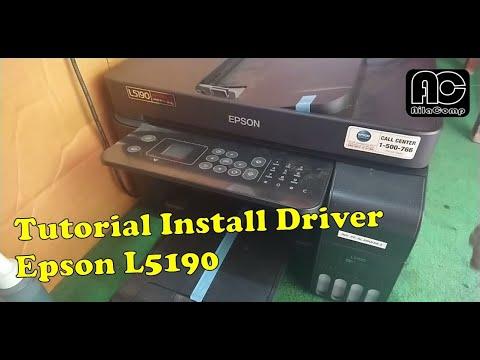 Cara Menghubungkan Ke Laptop Atau Install Driver Printer Epson L5190 Youtube