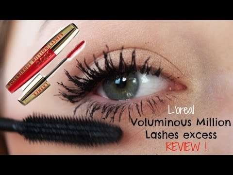 023924d294c L'oreal Voluminous Million Lashes excess mascara REVIEW & DEMO - YouTube