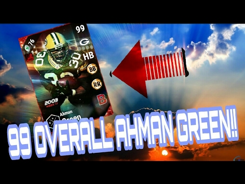 99 LIMITED AHMAN GREEN GAMEPLAY!! ULTIMATE RAGE!! MADDEN 17 ULTIMATE TEAM