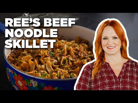 ree's-drummond-makes-a-beef-noodle-skillet-|-food-network