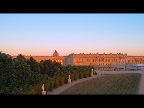 Le château de Versailles vu du ciel