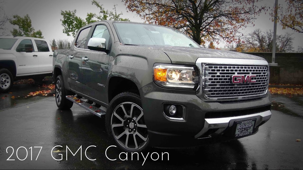 2017 Gmc Canyon Denali 2 8 L Turbo Sel 4 Cylinder Duramax Road Test Review You
