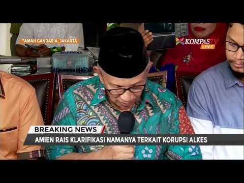 Amien Rais Klarifikasi Soal Dana Alkes Rp 600 Juta