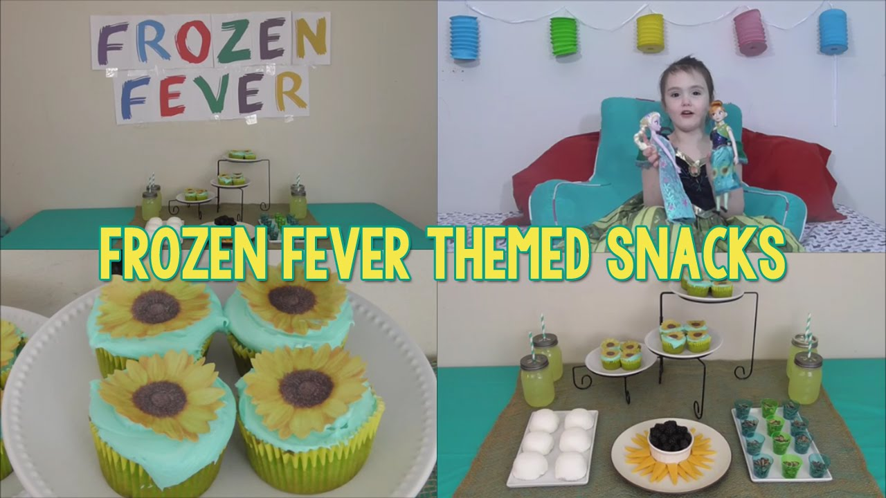 Frozen Fever Themed Party Snacks - Sunflowers & Snowballs ...