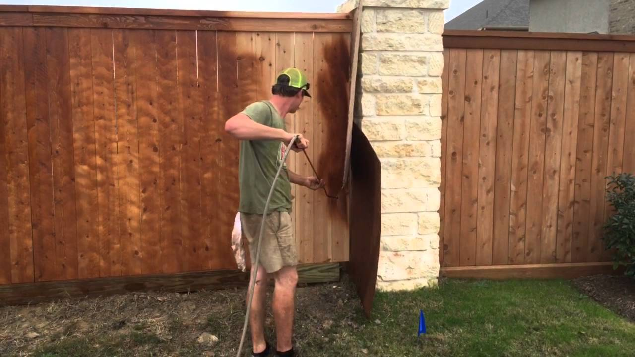 Staining A Cedar Fence With Baker S Gray Away Special