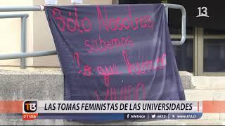 Las tomas feministas de las universidades en contra de acosos y abusos