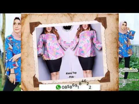 Model Baju Batik Wanita Modern 2018