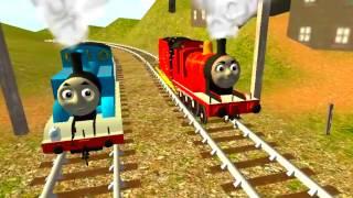 Паровозик Томас мультик.  Томас и его друзья - ГОНКИ паровозиков. Thomas and friends races