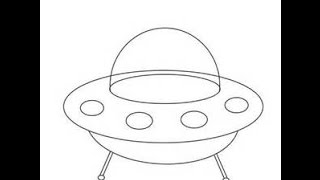 How to draw an Alien space ship