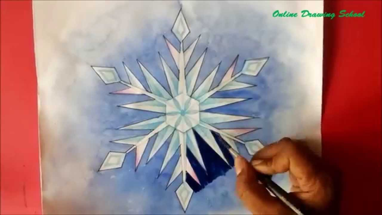 Uncategorized Snowflake How To Draw how to draw snowflake drawing youtube