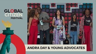 Andra Day Stands With Young Activists & Performs | Global Citizen Festival NYC 2017