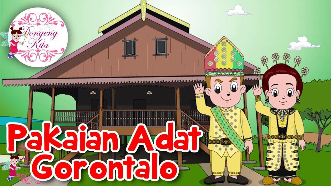 Kartun Pakaian Adat Gorontalo