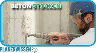 BETON stocken ►  Steinmetzarbeit an Betonoberfläche // PLANERWISSEN2go