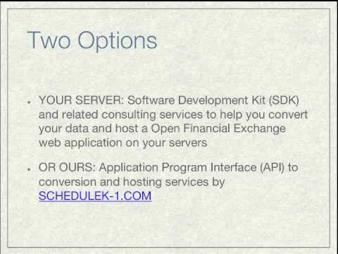 Irs Schedule K 1 Txf Conversion And Ofx Hosting Services Youtube