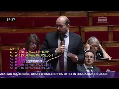 Intervention en hémicycle - Débat Loi Asile et Immigration (20/04/2018)