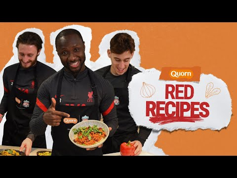 Quorn presents 'Red Recipes' with Naby Keita, Kostas Tsimikas and Ben Davies