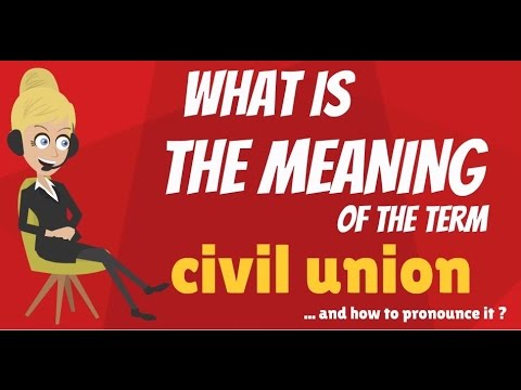What is CIVIL UNION? What does CIVIL UNION mean? CIVIL UNION meaning, definition & explanation
