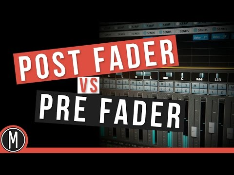 QUICK TIP - Post Fader VS Pre Fader ''sends'' in CUBASE 8 - mixdownonline.com