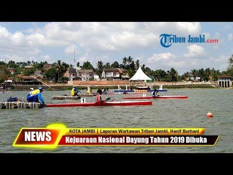 Kejuaraan Nasional Dayung Tahun 2019 Dibuka, Warga Antusias Padati Danau Sipin Jambi