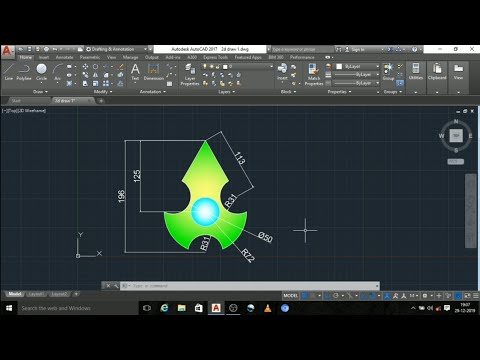 How To Draw Autocad 2d Practice Diagrams In Tamil