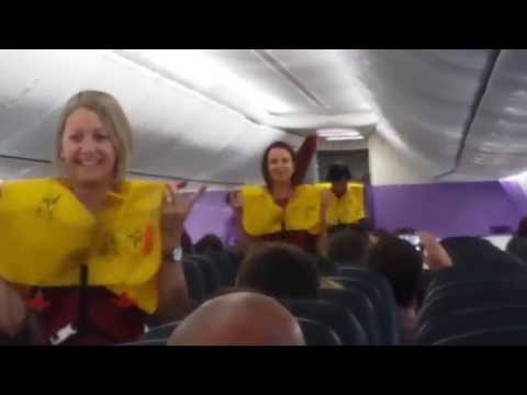 Jonathan Thurston as a flight attendant.