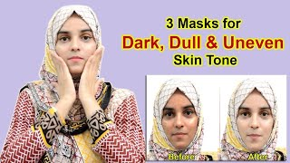 3 SK N BR GHTEN NG MASKS for Dull Discolored and Uneven Skin