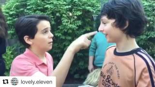 Finn Wolfhard and Jack Dylan adorable fun