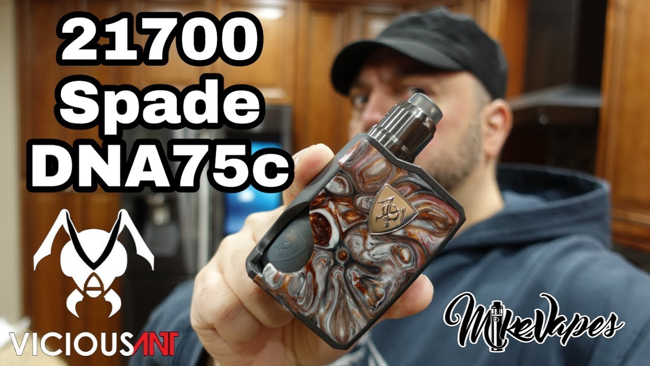 21700 Vicious Ant Spade DNA75c Squonk Mod - Mike Vapes