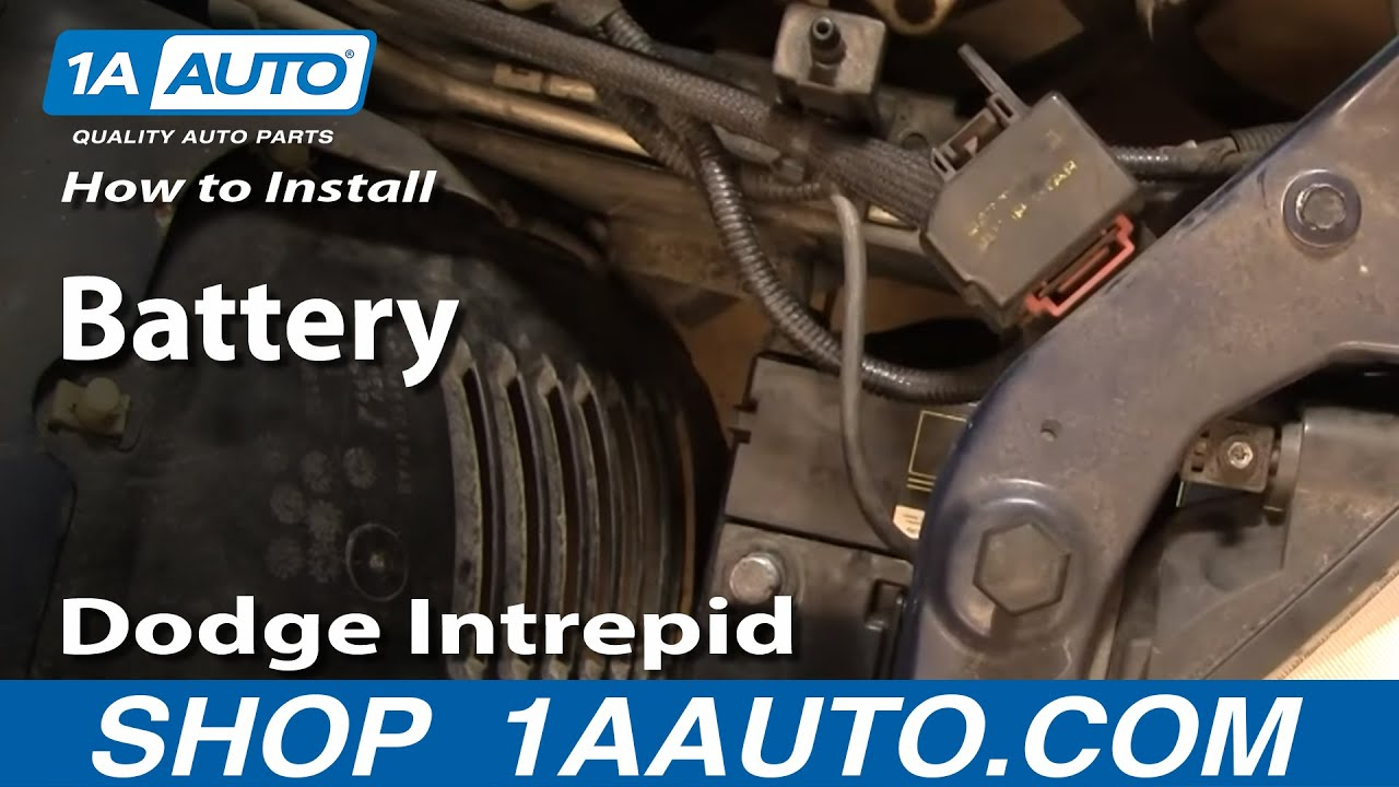 hight resolution of how to install replace a battery dodge intrepid 98 04 1aauto com youtube
