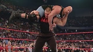 "Brock Lesnar attacks ""Stone Cold"" Steve Austin"