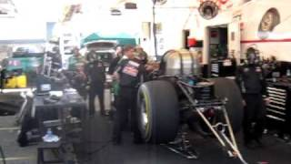 John Force start up clears out the rope rats!
