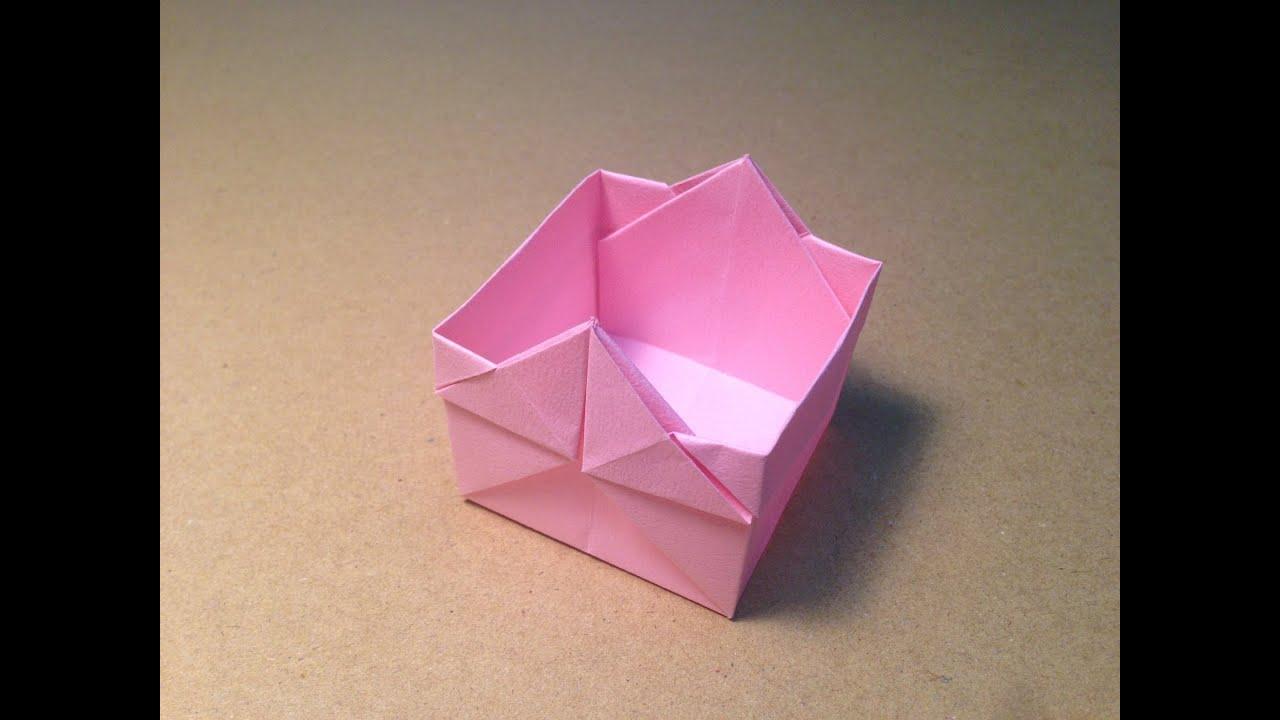 origami square box youtube