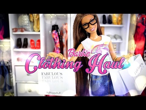 Barbie Clothing Haul | Plus How to Make Doll Jeans - Doll Crafts