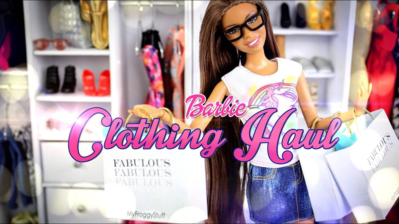10af5b9ec12b Barbie Clothing Haul | Plus How to Make Doll Jeans - Doll Crafts ...