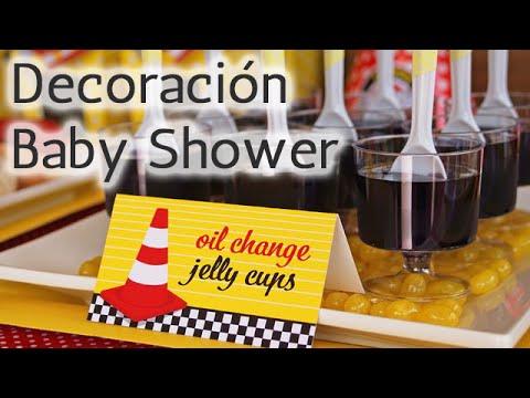 40 ideas decoraci n para baby shower tem tico autos hd youtube