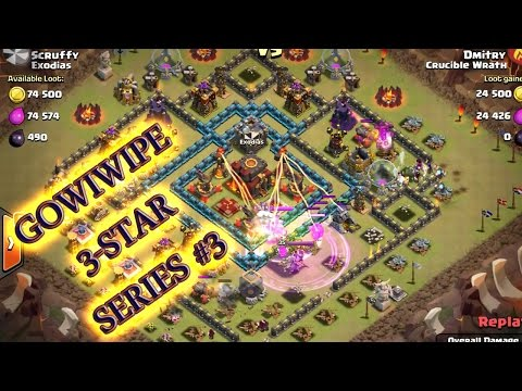 Gowipe strategy clash of clans - 3 star attack strategy at town hall 10 episode 3