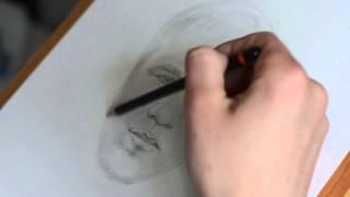 Wayne Rooney portrait drawing - World cup 2014 - Joe Rocky Holey HD 1080p