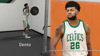 NBA 2k17 MyCAREER - Off Day #1! Lifting Weights! Intense Live Practice vs Justice! Ep. 8