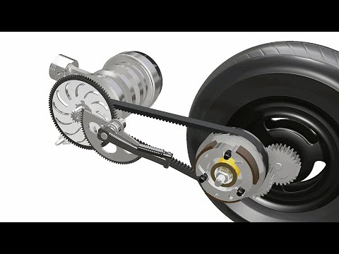 How a Scooter Transmission works