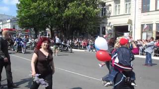 1мая 2015г Байкеры на параде в Симферополе(1 мая 2015г Байкеры в первомайской колонне на улицах Симферополя .Супер звук. Смотреть всем!!!!!, 2015-05-01T14:34:53.000Z)
