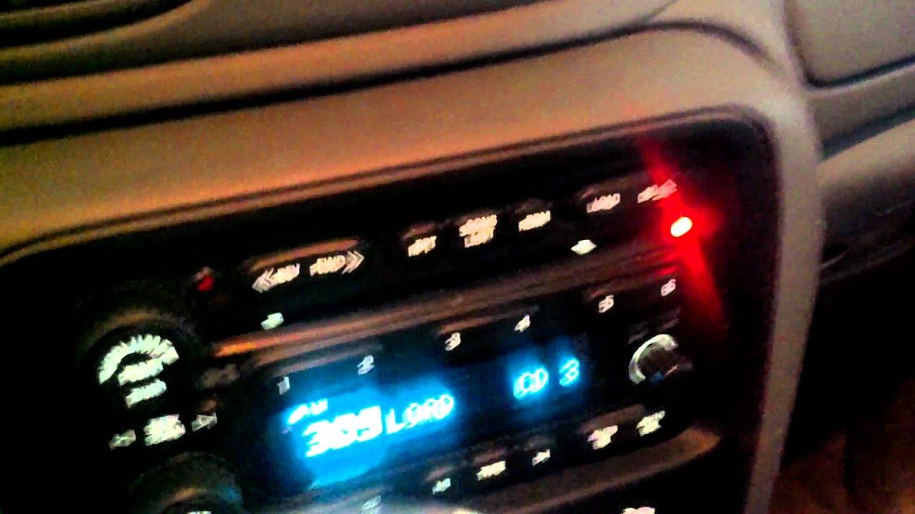 Loading The 2005 Chevy Trailblazer Cd Changer