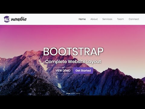 Responsive Bootstrap Website Start To Finish With Bootstrap 4, HTML5 & CSS3