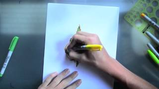 Leaf Drawing Time Lapse
