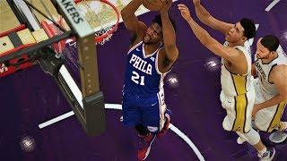 NBA 2K18 Roster Joel Embiid,Ben Simmons & Markelle Fultz vs Lakers