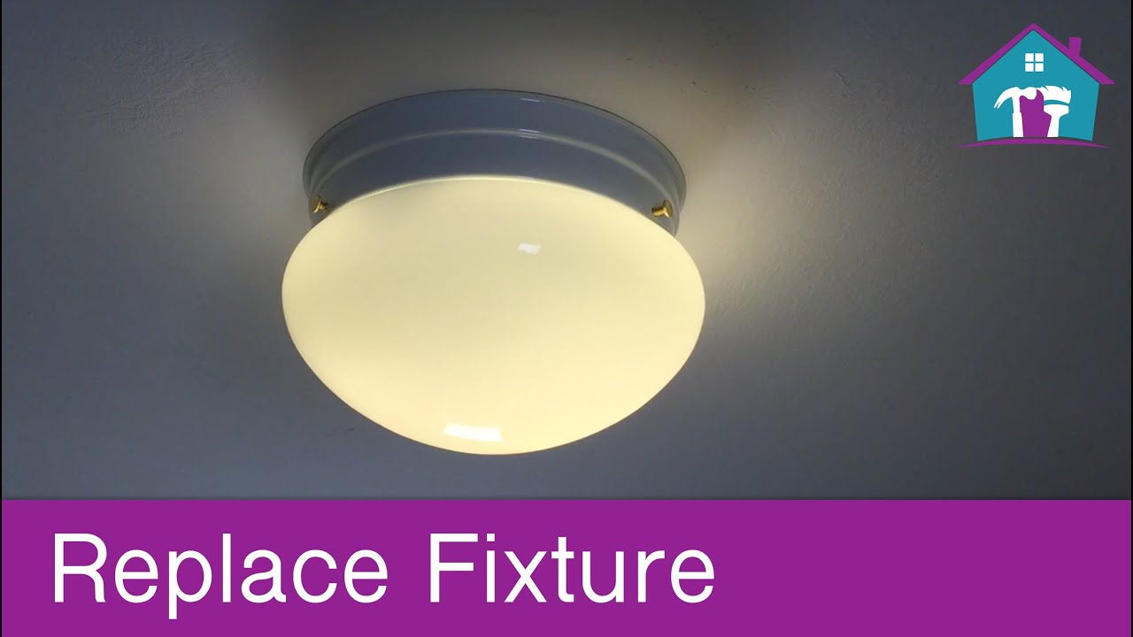 How to replace a ceiling fixture youtube how to replace a ceiling fixture aloadofball Choice Image