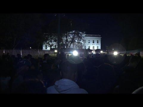 Hundreds protest in Washington over Ferguson ruling